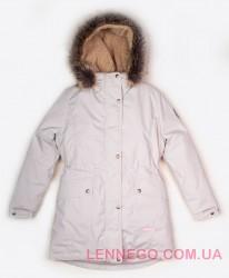 Lenne Tess куртка парка для девочки бежевая, подросток