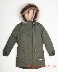 Lenne Tess куртка парка для девочки зеленая
