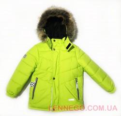 Lenne Timmy зимняя куртка для мальчика салатовая