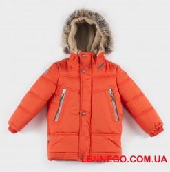 Куртка для мальчика lenne tom 19338/455 оранжевая