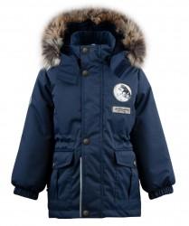 Lenne Wolf удлинённая куртка парка для мальчика тёмно-синяя