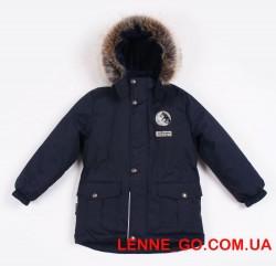 Куртка для мальчика зима 2019-2020 lenne wolf 19339/229 тёмно-синяя