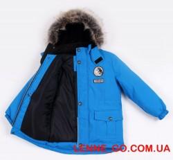 Lenne Wolf удлинённая куртка парка для мальчика голубая