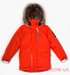 Lenne Woody куртка парка для мальчика орнажевая