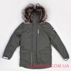 Зимняя куртка парка для мальчика Lenne Woody 18368/330 хаки