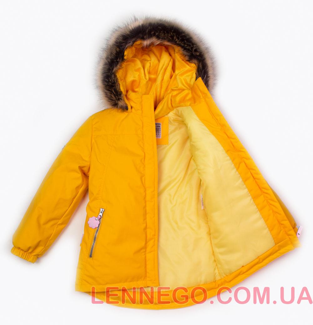 Lenne Marion удлиненная куртка парка для девочки желтая