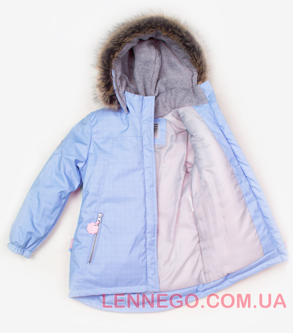 Lenne Marion удлиненная куртка парка для девочки голубая