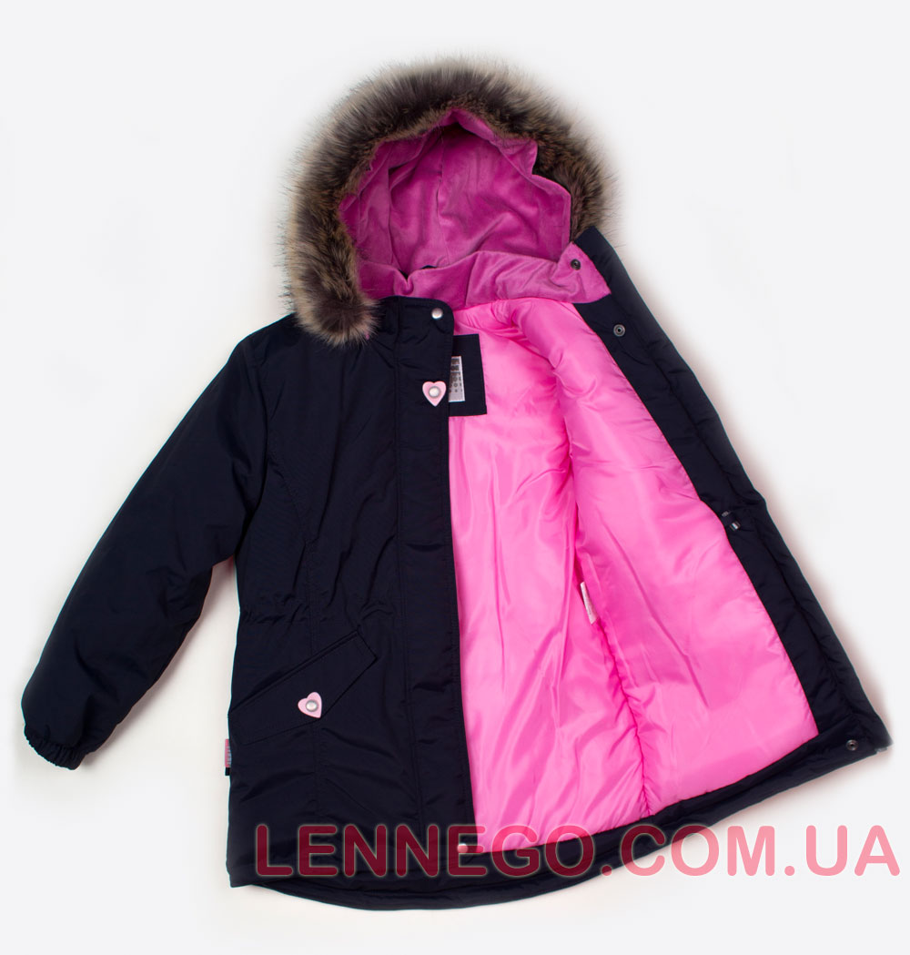 Lenne Milly удлиненная куртка парка для девочки синяя