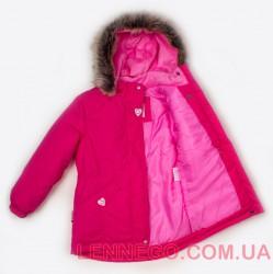 Lenne Milly удлиненная куртка парка для девочки ягодная