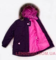Lenne Milly удлиненная куртка парка для девочки баклажан