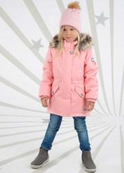 Lenne Milly удлиненная куртка парка для девочки розовая