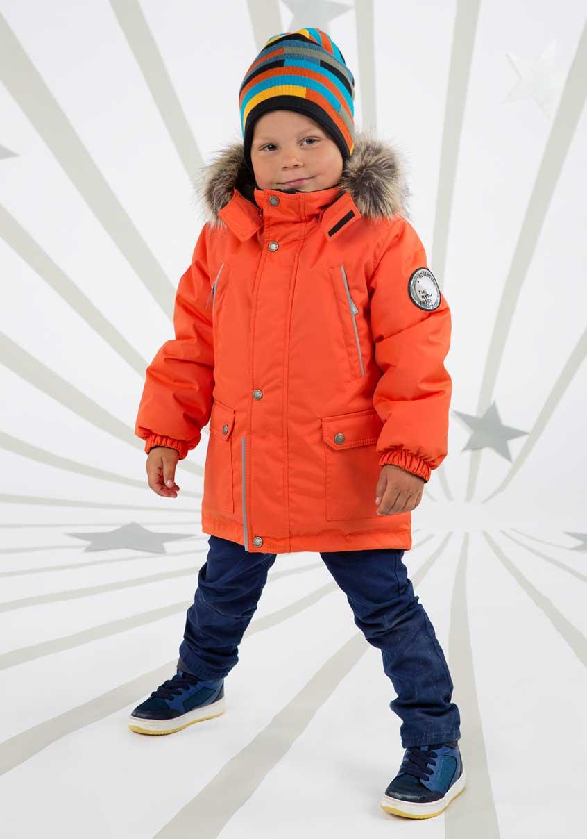 Lenne Storm удлиненная куртка парка для мальчика, оранжевая