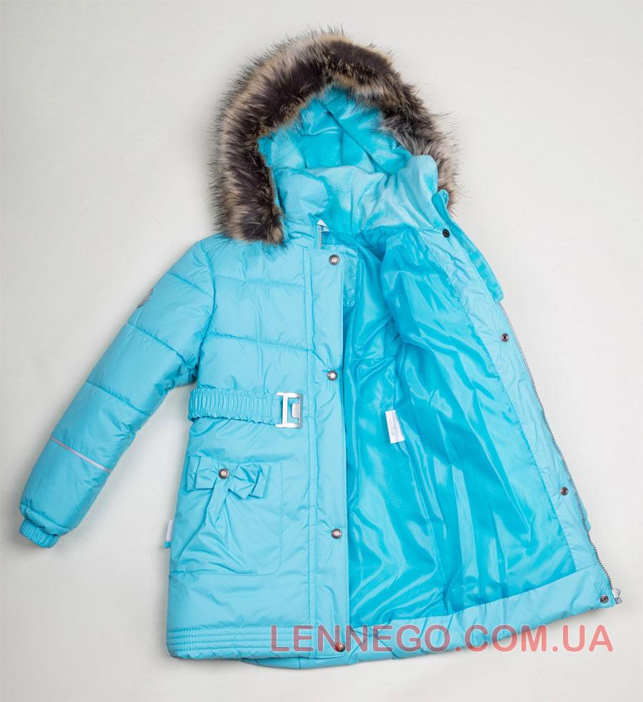Lenne Sheryl пальто для девочки бирюзовое