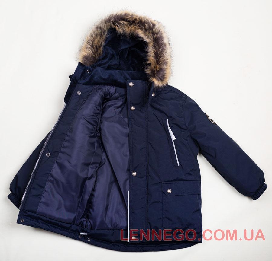 Lenne Storm удлиненная куртка парка для мальчика, синяя