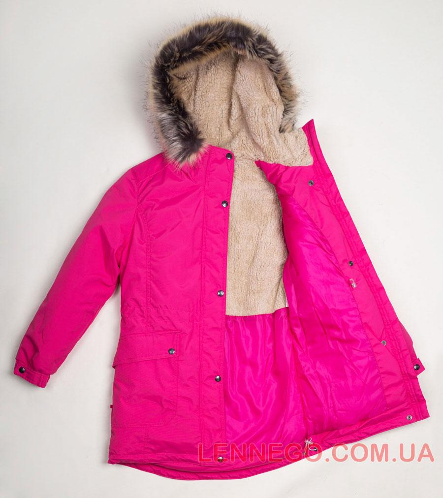 Lenne Tess куртка парка для девочки малиновая, подросток