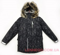 Lenne Wood куртка парка для мальчика серо-черная