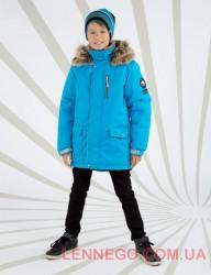 Lenne Woody куртка парка для мальчика голубая